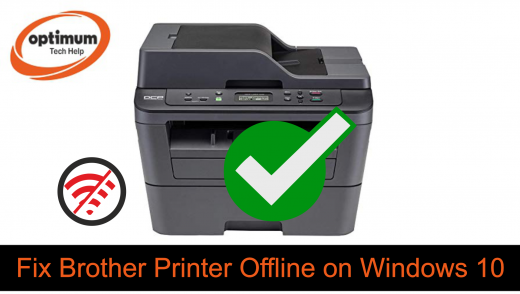 brother printer offline windows 10