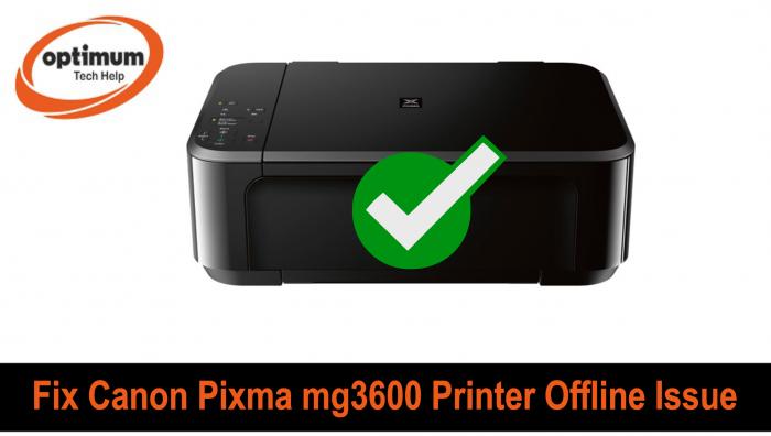 canon mg3600 printer offline