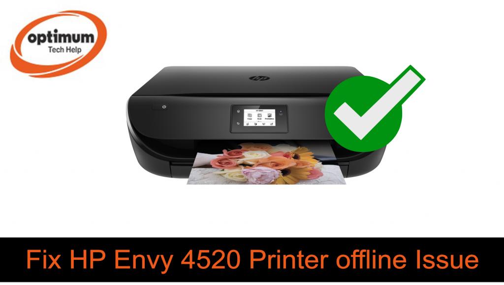 hp envy 4520 printer offline