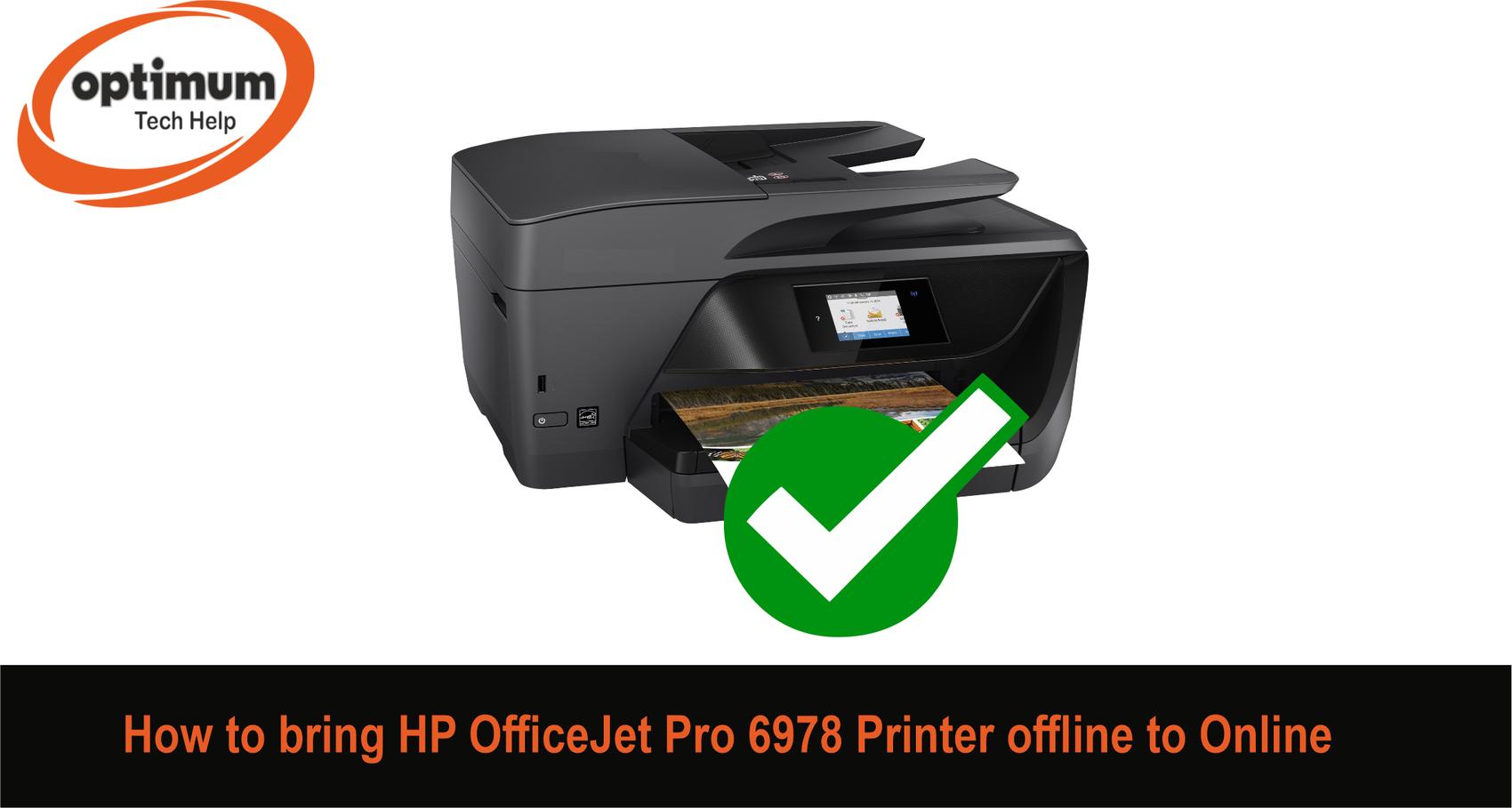 hp officejet pro 6978 offline