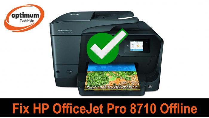 hp officejet pro 8710 offline