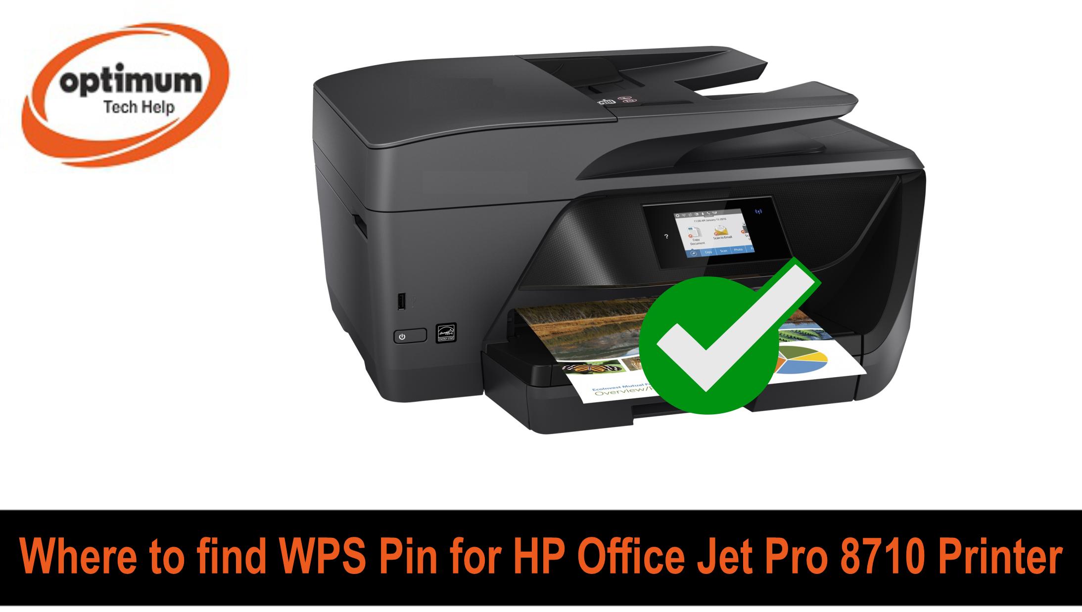 wps pin hp officejet pro 8710