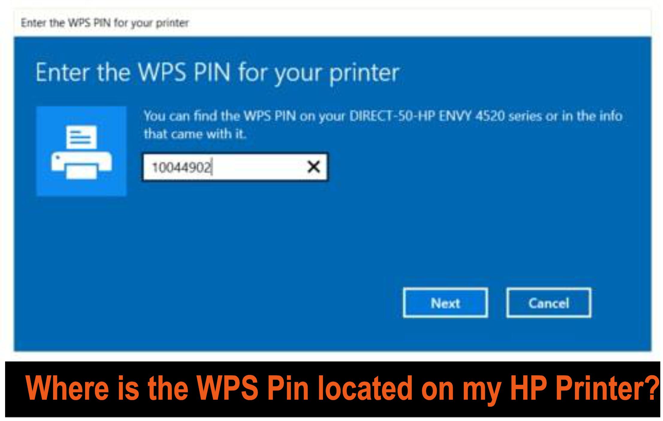 wps pin on hp printer