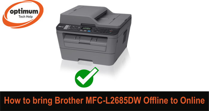 brother mfc l2700dw offline