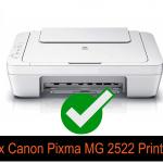 canon mg 2522 printer offline