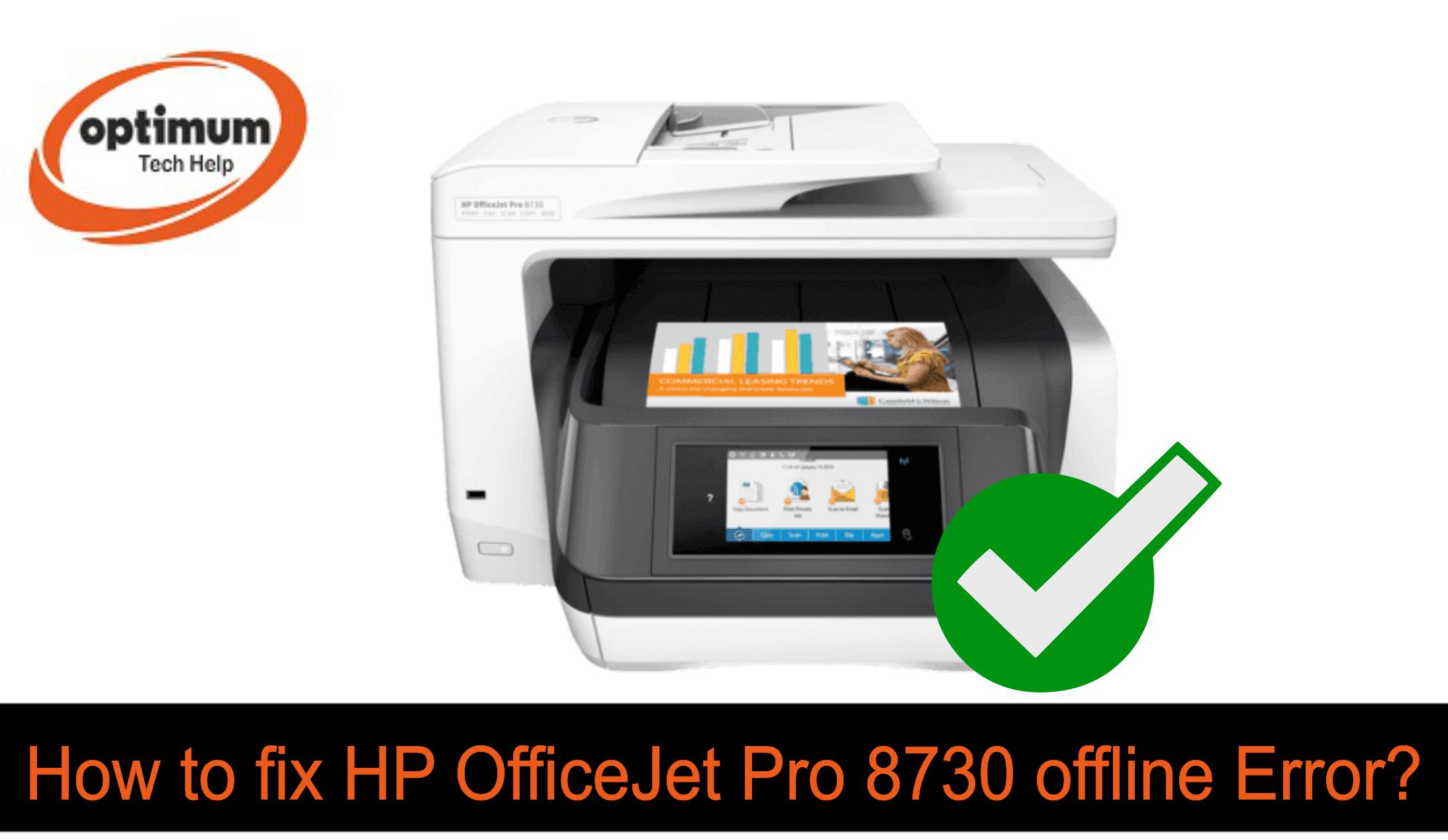 hp officejet pro 8730 offline