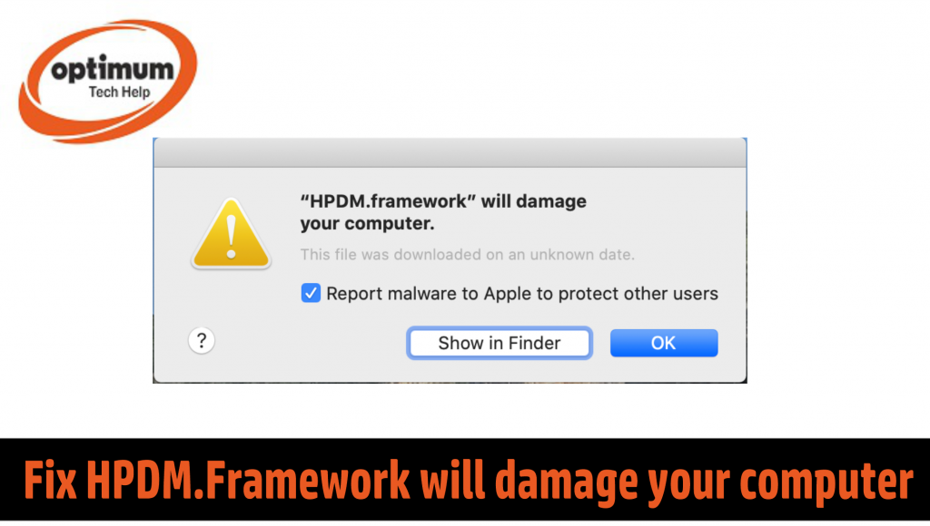 HPDM Framework will damage your computer