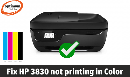 hp 3830 not printing in color