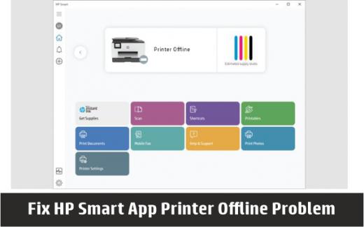 hp smart printer offline