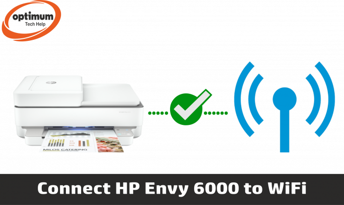how to connect hp envy 6000 to wifi